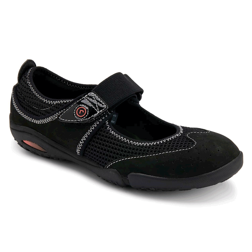 Famke Wing Tip Sport Women's Casual Shoes in Black